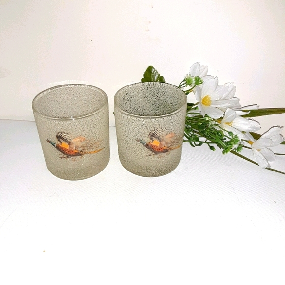 3 frosted textured pebble pheasant speckle glasses